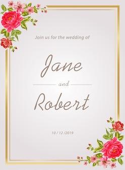 Weeding invitation template