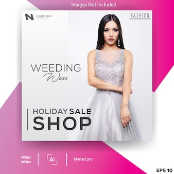 Weeding wear banner template