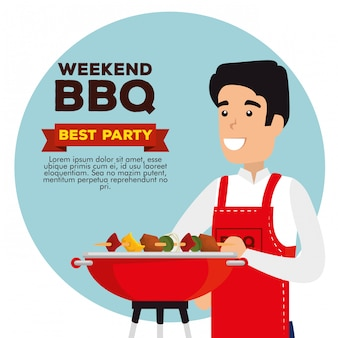Weekend bbq party invitation