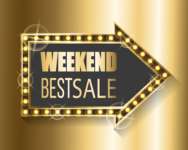 Weekend лучшая распродажа баннеров предложение от магазина gold banner