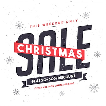 Weekend sale background for christmas festival