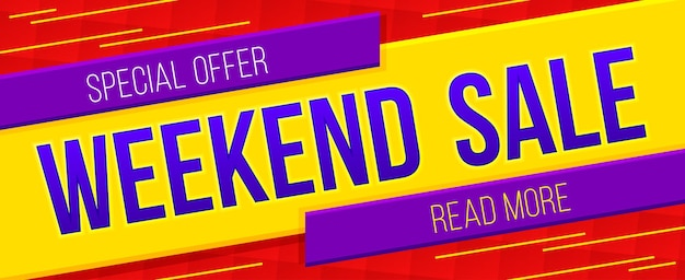 Weekend sale banner sale and discounts