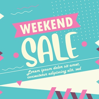 Weekend sale banner template