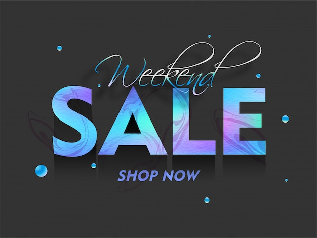Weekend sale banner.