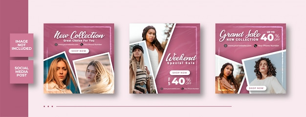 Weekend special sale social media web banners