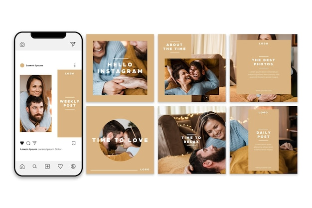 Weekly post instagram carousel templates