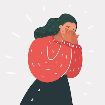 泣く女の感情の悲しみ