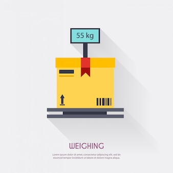 Weighing. warehouse icons logistic blank and transportation, storage   illustration.