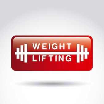 Weight lifting sign over gray background vector illustration