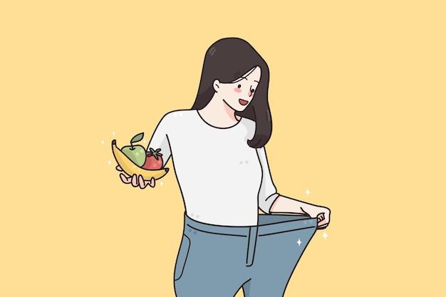 체중 감소 및 다이어트 개념