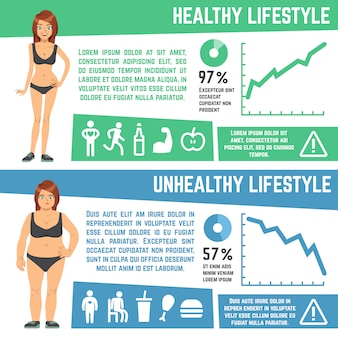 Weight loss and diet medical vector infographics
