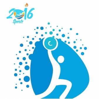 重量挙げrioオリンピックアイコン