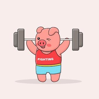 Weightlifting piggy