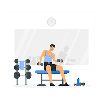 Weights concept illustration