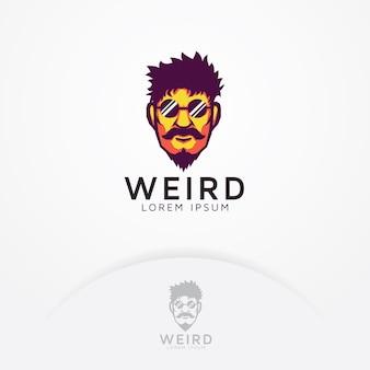 Логотип странного человека