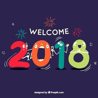 2018 배경 환영