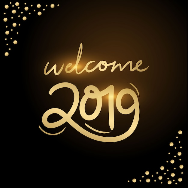 Welcome 2019 typhography
