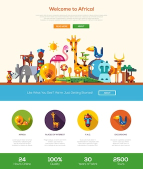Welcome to africa travel website template