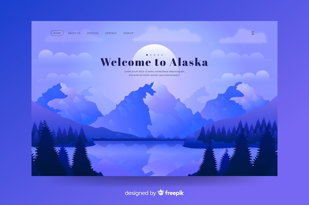 Welcome to alaska landing page