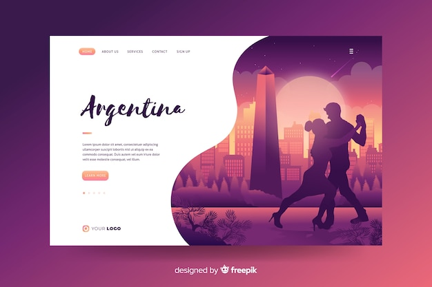 Welcome to argentina landing page