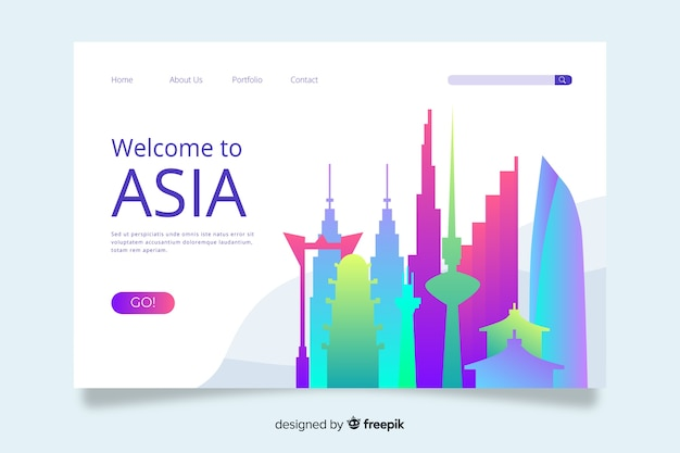 Welcome to asia landing page template