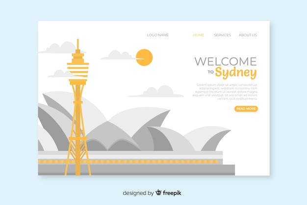 Welcome to australia landing page template