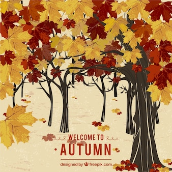 Welcome to autumn background