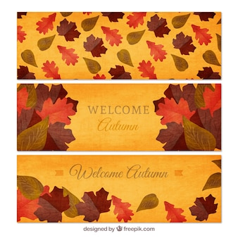 Welcome autumn banners