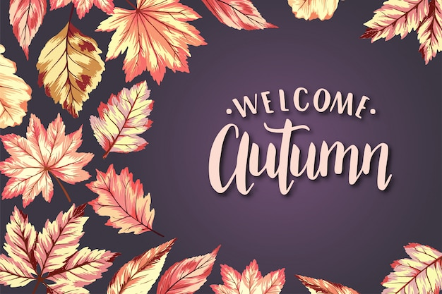 Welcome autumn frame