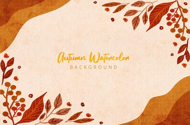 Welcome autumn leaves background