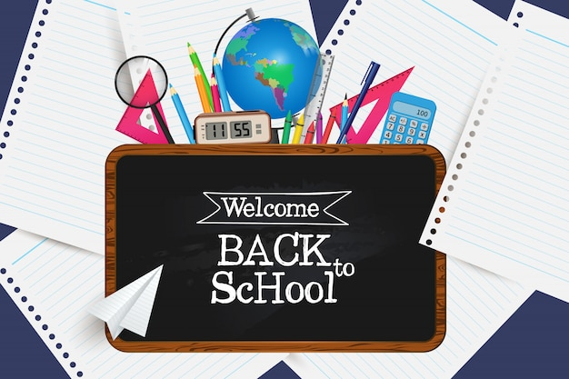 Welcome back to school. get your supplies.