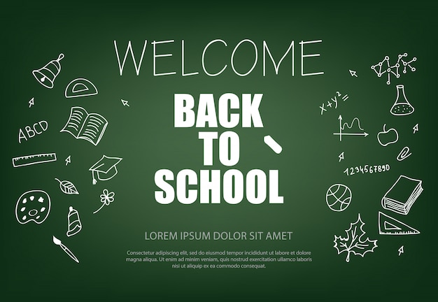 Welcome back to school lettering with chalk