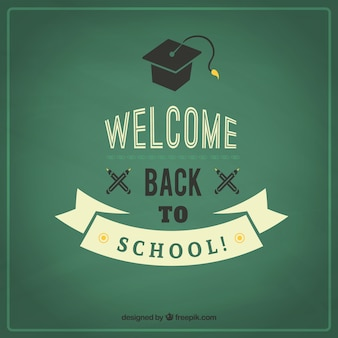 Welcome back to school in retro style