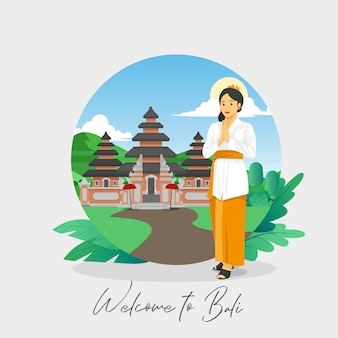 Welcome to bali greetings card