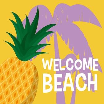 Welcome beach cartoons