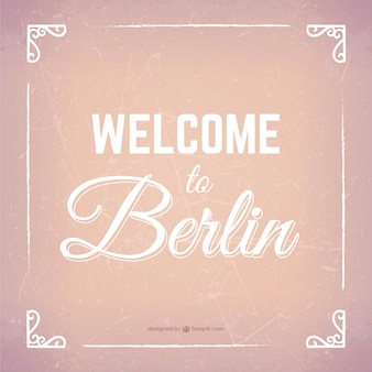 Welcome to berlin lettering