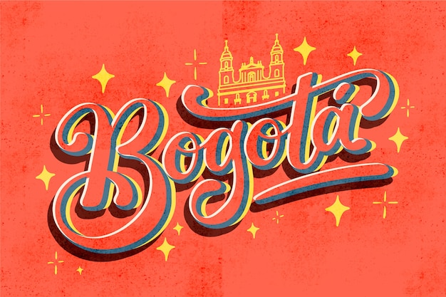 Welcome to bogota lettering