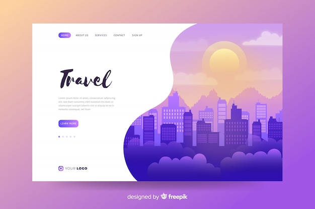 Welcome to brazil landing page template