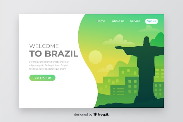 Welcome to brazil landing page