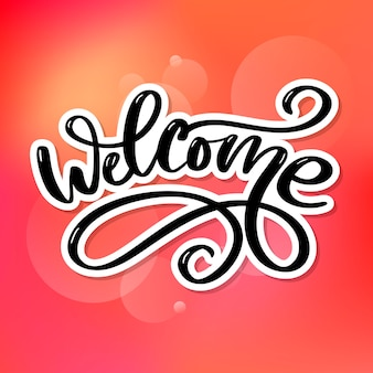 Welcome brush lettering.