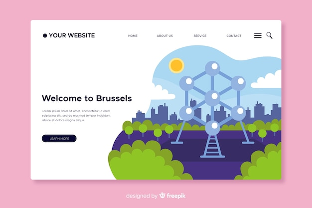 Welcome to brussels landing page