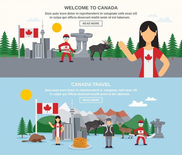 Welcome to canada banners