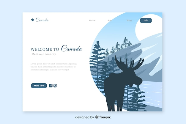 Welcome to canada landing page template