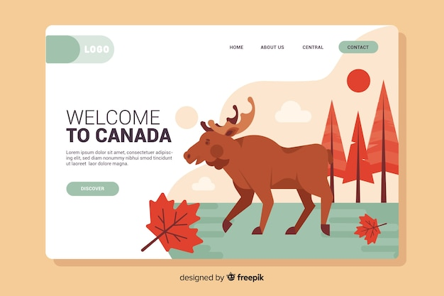 Welcome to canada landing page