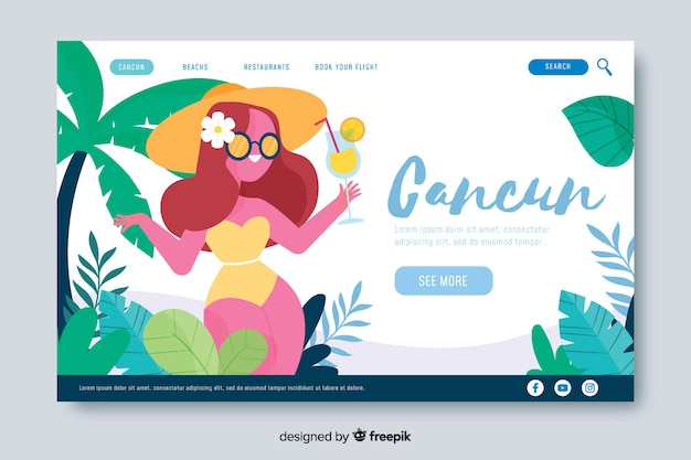 Welcome to cancun landing page