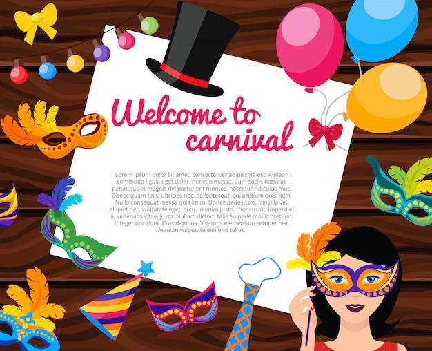 Benvenuti a carnival composizione