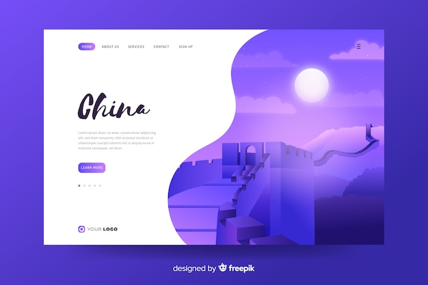 Welcome to china landing page template