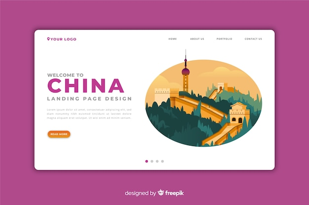 Welcome to china landing page