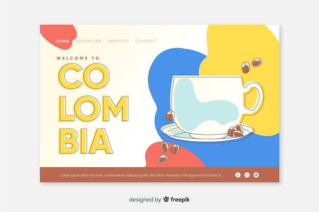 Welcome to colombia landing page