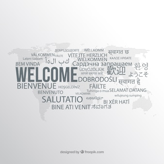 Welcome composition in different languages